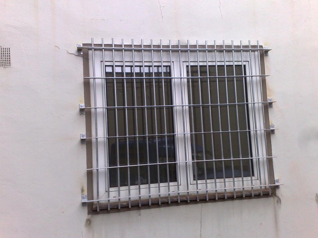 Verzinkte Fenstergitter
