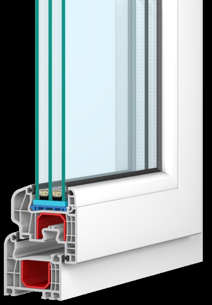 IGLO5 Fenster mit dem GL SYSTEM von Drutex