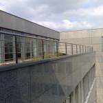 Edelstahlgeländer für eine Dachterrasse