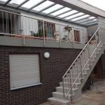 Terrassen- und Treppengeländer Kombination