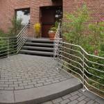 Edelstahl Hauseingangs-Treppengeländer aus Rundrohren