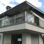Edelstahl Balkongeländer mit Glasfüllungen